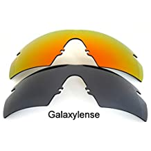 Galaxy Replacement Lenses for Oakley M Frame Strike Black/Red Color 2Pairs