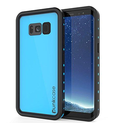 Galaxy S8 Plus Waterproof Case, Punkcase [StudStar Series] [Slim Fit] [IP68 Certified] [Shockproof] [Dirtproof] [Snowproof] Armor Cover for Samsung Galaxy S8 Plus [Light Blue]