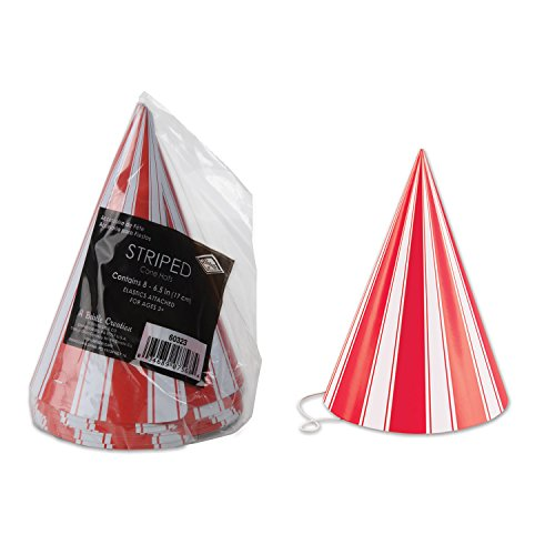 Beistle Pkgd Striped Cone -