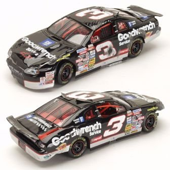 Dale Earnhardt #3 GM Goodwrench / Raced Version / 1997 Monte Carlo / 1:64 Scale Diecast Crash Car
