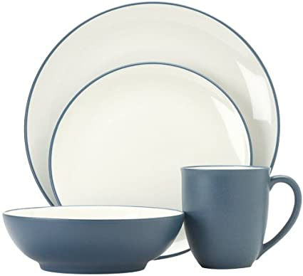 Amazon.com | Noritake Colorwave Blue 16-Piece Dinnerware Set ...