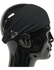 Temple Tape Headbands Men Women - Mens Sweatband & Sports Headband Moisture Wicking Workout Sweatbands Running, Crossfit, Yoga Bike Helmet Friendly