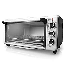 BLACK+DECKER TO3240XSBD 8-Slice Extra Wide Convection Countertop Toaster Oven, Includes Bake Pan, Broil Rack & Toasting…