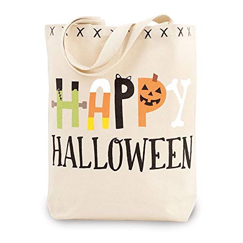 Mudd Pie Happy Halloween Canvas Tote Bag