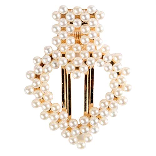 (NEEKEY Pearl Hair Clips for Women Girls,Fashion Sweet Hair Accessories Artificial Pearl Clips for Party Wedding Daily)
