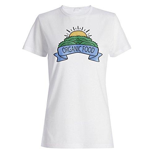 Bio-Essen Chef lustig gesund vegan Damen T-shirt d505f