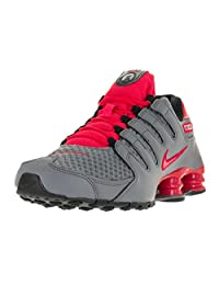 Nike Men's Shox NZ SE Cool Grey/Actn Red/Actn Rd/Blk Running Shoe 9 Men US
