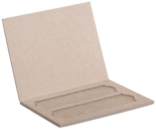 Heathrow Scientific HD9904 Heavy Cardboard Slide Mailer with Thumb Groove, 2 Place, 103mm Length x 79mm Width x 5mm Height (Pack of 36)
