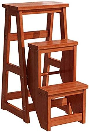 GOG Fácil y conveniente plegable taburete de paso, de 3 Capas pedal Trona escalera asientos de madera Ensanchamiento de seguridad plegable Estantería Escalera Estante de almacenamiento Domésticos de: Amazon.es: Bricolaje y herramientas
