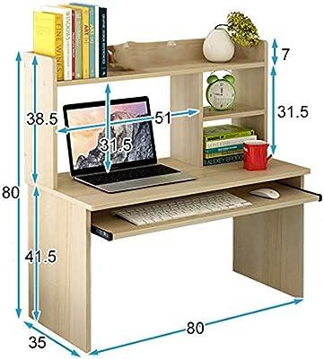 Jacher - Escritorio Ajustable para Ordenador (80 x 80 cm), diseño ...