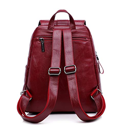 Donna Backpack Da Viaggio In Pelle Solido Black Zaino Vintage Zx81twUU