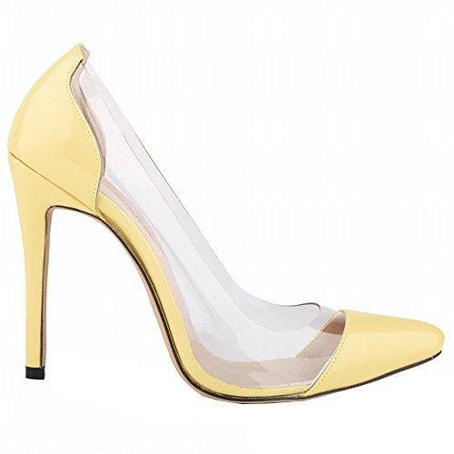 Yellow Women High Stilettos Optimal Transparent Heels qBOwp7BdX