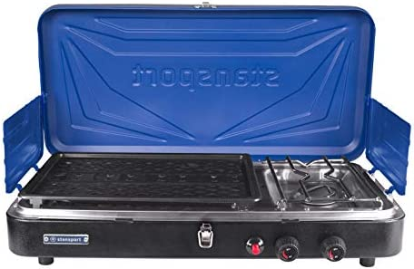 Stansport Propane Stove And Grill Combo Blue With Black Trim Amazon Sg Sports Fitness Outdoors