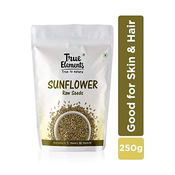 True Elements Raw Sunflower Seeds 250gm - Vitamin Rich Seeds
