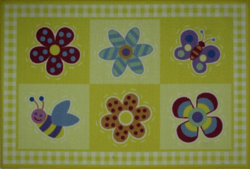 Fun Rugs Olive Kids Flowerland Home Decorative Accent Area Rug 19