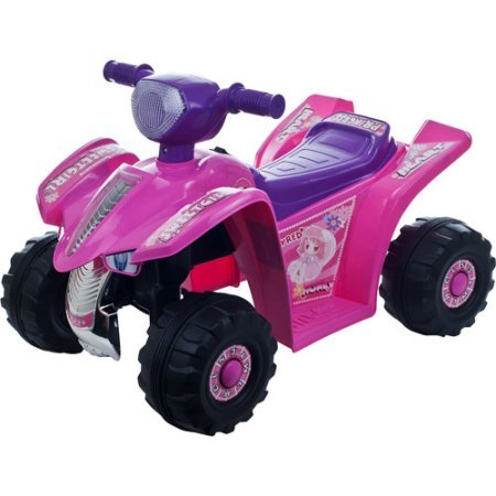Rockin' Rollers Pink Princess Mini Quad Girls' 6-Volt Battery-Powered Ride-On, 90-A6303 - Montgomery Swivel