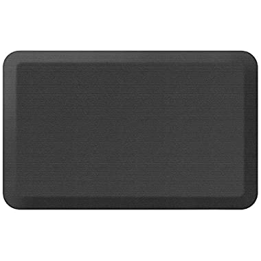 NewLife by GelPro Designer Comfort Mat, 20 by 32-Inch, Grasscloth Charcoal