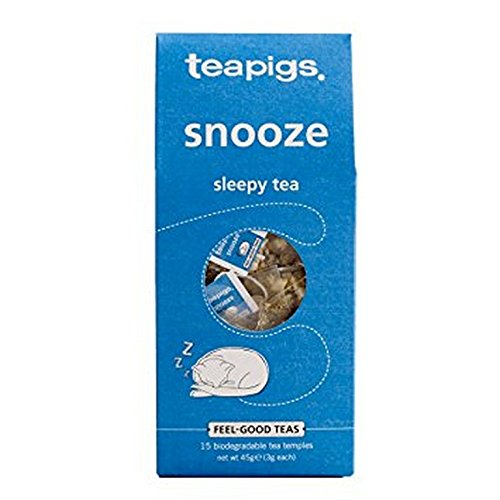 TEAPIGS, TEA, SNOOZE, SLEEPY, Pack of 6, Size 15 CT - No Artificial Ingredients Gluten Free Low Sodium Vegan Wheat Free Yeast Free