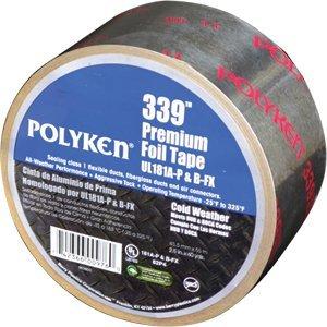 Polyken 339 Series 2.5'' x 60yd UL Listed Premium Aluminum Foil Tape (UL181A-P & B-FX Listed)
