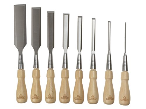 Stanley 1-16-793 Chisel-Set Sweetheart (8-piece), Silver/Tan Brown by Stanley