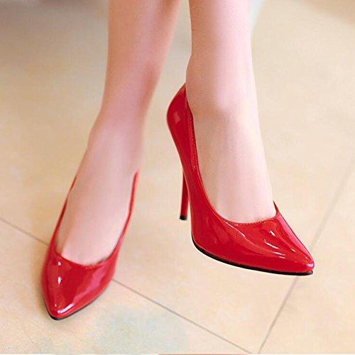 CJC Haut Talon Womens Court Shoes Stiletto Slip sur Les Pompes Bout Pointu Chaussures Classique Chaussures (Couleur : T7, Taille : EU36/UK4) T5
