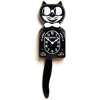 Amazon Com Wagging Pink Cat Tail Pendulum Wall Clock New