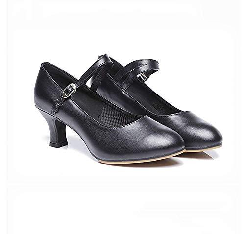 Dorado Mujer Negro Modernos Tamaño 8cm9inch Zhrui Fondo Medio 22 Length Baile Moderno Zapatos De color Y Foot Con Suave Latino Para Tacón 71ZqX1w