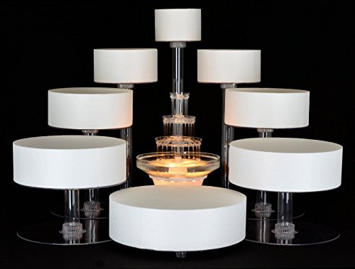8 Tier Cascade Wedding Cake Stand (STYLE R800) - Wedding Cake Stand Set