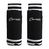Almohadillas de fútbol del estilo de los calcetines juveniles Champion Sports - De 8 a 10 años /Grandes - Negro (par)