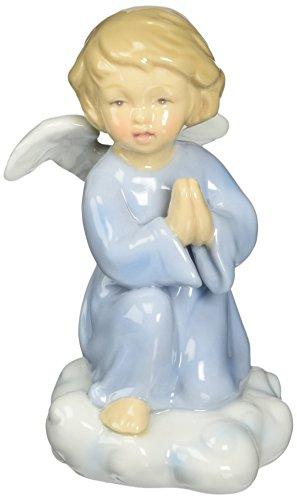 Praying Angel Porcelain - Cosmos 10424 Fine Porcelain Praying Angel Figurine, 4-1/4-Inch, Blue