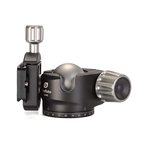 LEOFOTO LH-40 40mm Low Profile Ball Head Arca / RRS Compatible w Independent Pan Lock