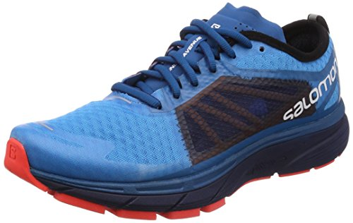 Salomon Sonic Ra, Scarpe da Trail Running Uomo Multicolore (Hawaiian Surf / Medieval Blue / Fiery C 000)