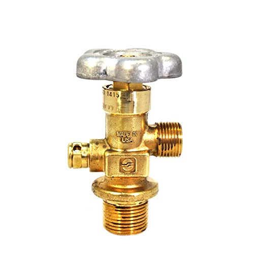 Sherwood High Pressure Global Valve | 3360 PSI Type CG-1 PRD | .750-16 UNF Inlet | CGA 540 Outlet | Durable Heavy Duty Forged Brass Body | 100% Helium Leak Tested | GV O-Ring Style Cylinder Valves
