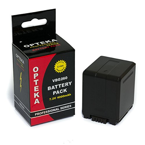 - Opteka VW-VBG260 4000mAh Ultra High Capacity Li-ion Battery Pack for Panasonic HDC, VDR, SDR & PV Camcorders(Fully Compatible)