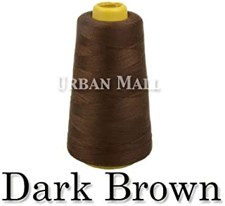 product image for 6000 Yards Dark Brown Sewing Thread All Purpose 100% Spun Polyester Spools Overlock Cone (Upholstery, Canvas, Drapery, Beading, Quilting)
