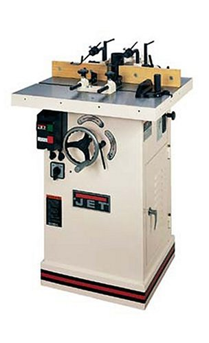 - JET 708502 JWS-34L 3/4-Inch and 1-Inch Interchangeable Spindle 2 Horsepower Shaper with 1/4-Inch and 1/2-Inch Router Collets, 230-Volt 1 Phase