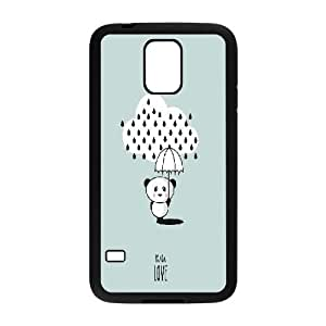 Custom Cute panda Plastic Case, DIY Cute panda Case for Samsung Galaxy S5 I9600