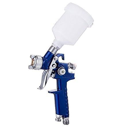 HJJH Pistola de Pulverización Manual DE 1,7 mm, Grano Superior, Alta eficiencia de Pintura para Coche, Garaje, compresor de Aire, Herramienta de Pintura: ...