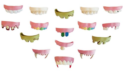 Silly Teeth Kids Size Pack of 16 -