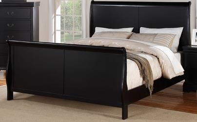 Poundex F9230EK Eastern King Bed, Black