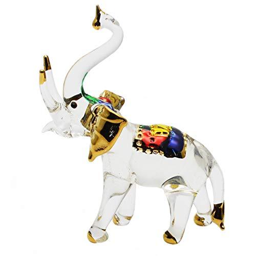 Zoo Craft Hand Blown Glass Figurine Elephant Handmade Miniature Animal Art -