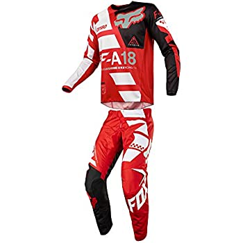 d3168bed8 Fox Racing 2018 180 Sayak Jersey Pants Adult Mens Combo Offroad MX Gear  Motocross Riding Gear Red