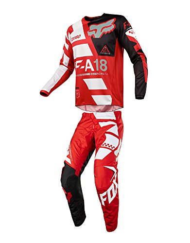 Red Mx Gear - Fox Racing 2018 180 Sayak Jersey/Pants Adult Mens Combo Offroad MX Gear Motocross Riding Gear Red