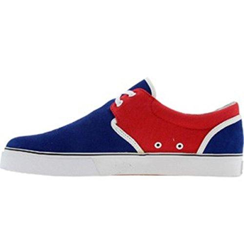 HUF Skateboard Schuhe--- Genuine-- Navy/Rot/ Weiß
