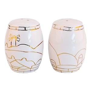 Porcelain Salt & Pepper Shaker Set - Jerusalem of Gold