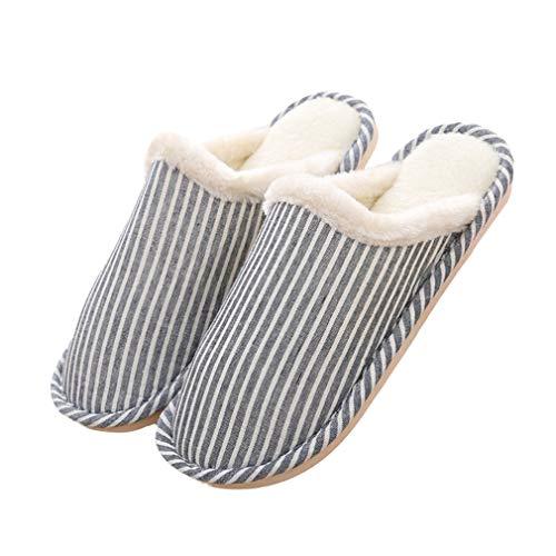 2 Intérieure Peluche Lavable Confortables Slippers Pantoufles Hiver Et Automne Eu36 Accueil Doublure Antiglisse Femme 45 Chaussons Chaussures Homme Hibote Coton qwHEX4g