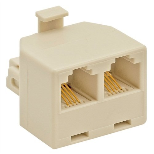 Duplex Jack Adapter (Ivory, 4-Conductor)