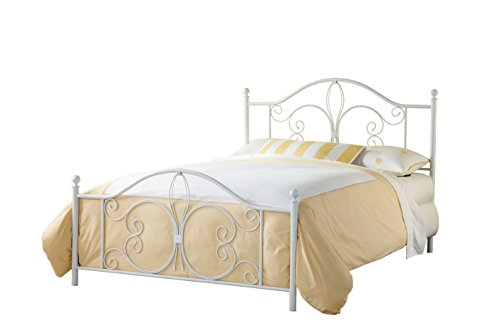 Hillsdale Furniture 1687BKR Ruby King Bed with Bed Frame, White -