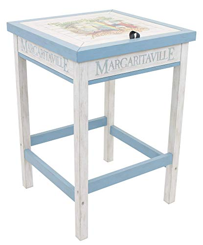 Margaritaville Outdoor Indoor/Outdoor Wood Bistro Table with Beverage Tub, One Particular Harbour
