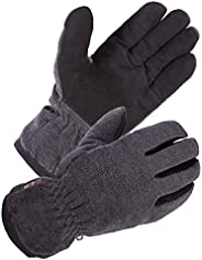 SKYDEER Winter Glove with Warm Deerskin Suede Leather and Thick Polar Fleece